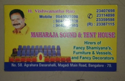 Maharaja Sound & Tent House