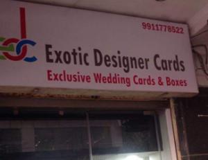 Exotic Designer Cards